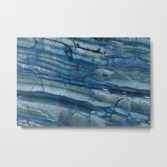 Ocean Depths Blue Marble Metal Print