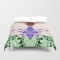 hitchcock Duvet Covers featuring Hitchcock by kikkerART