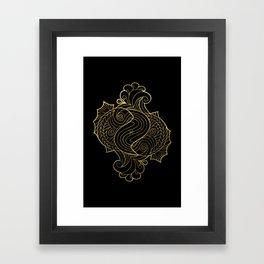 Pisces Gold Framed Art Print