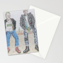 Punks On A Wall Stationery Cards