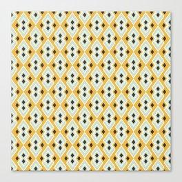 Geometric Tribal Yellow Pattern Canvas Print