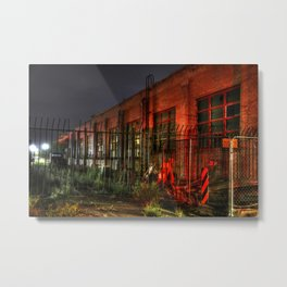 Train Laundry Building Metal Print