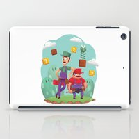luigi iPad Cases featuring Mario and Luigi! by Felo