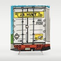 1989 Shower Curtains featuring J.B. Hunt by Josh LaFayette