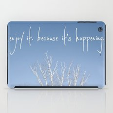 perks of being a wallflower - life is happening iPad Case