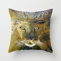 courage Throw Pillows featuring Courage by Anna Hanse