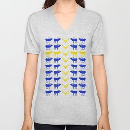 Graphic Elk 07 Swedish Male Flag Unisex V-Neck