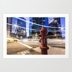 Lights Art Print
