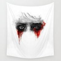 ashton irwin Wall Tapestries featuring Quiet by ururuty