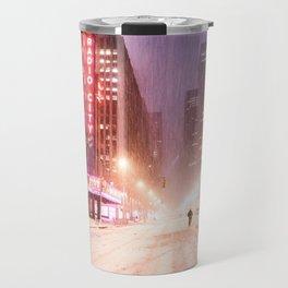 Snowstorm in New York City Travel Mug