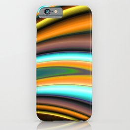 Abstract Fractal Colorways 01BR iPhone Case
