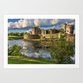 Caerphilly Castle Moat Art Print