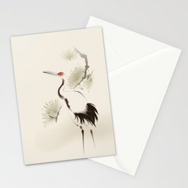 Oriental Red-Crowned Crane 002 Stationery Cards
