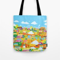 the neighbourhood Tote Bags featuring Neighbourhood by James Thornton