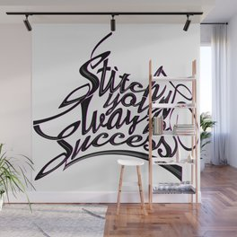 Font illustration calligraphic writing. Wall Mural