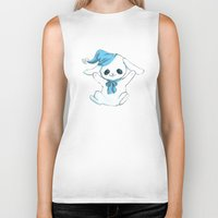cuddle Biker Tanks featuring Cuddle Bunny by Cat in the Box