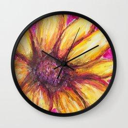 Cheery Yellow Flower Wall Clock