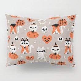 Halloween Kitties (Gray) Pillow Sham