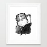 drums Framed Art Prints featuring Drums by Ashley Silvernell Quick