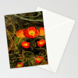Decorative poppy Stationery Cards