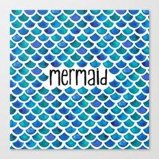 Mermaid Scales in Blue Canvas Print