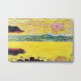 Pink Sunset at Saint-Tropez, French Riviera, France Beach landscape by Pierre Bonnard Metal Print