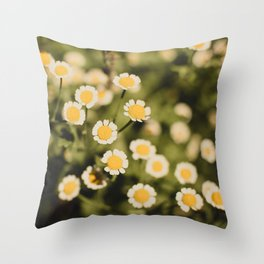 Little bits of sunshine Throw Pillow