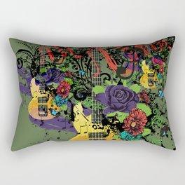 Grunge Guitar Illustration Rectangular Pillow