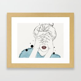 Can't get likes Framed Art Print