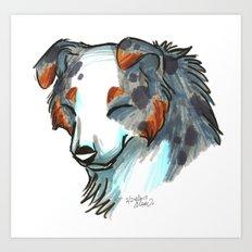 Brush Breeds-Australian Shepherd Art Print