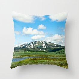Yellowstone Mountain Throw Pillow