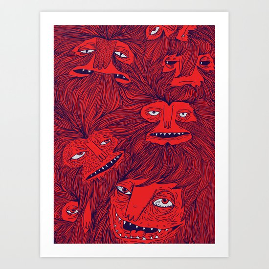 Hairwolves Art Print