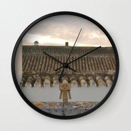 Danbo on rooftops  Wall Clock