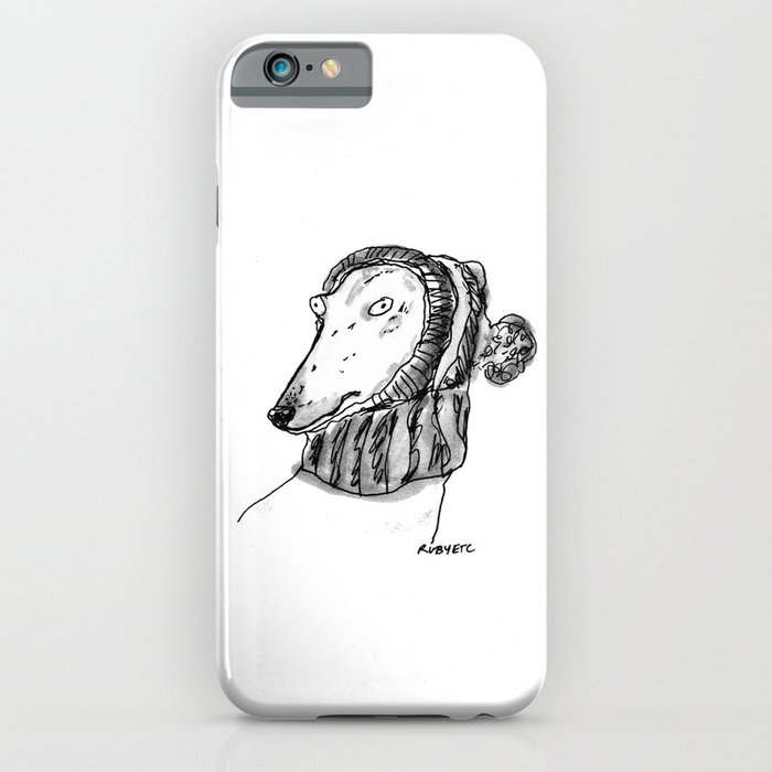 winter greyhound iphone case