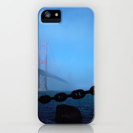 Golden Gate Fog iPhone Case