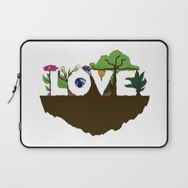 Love for Nature in Negative Space Laptop Sleeve