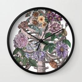 flowering ribs Wall Clock