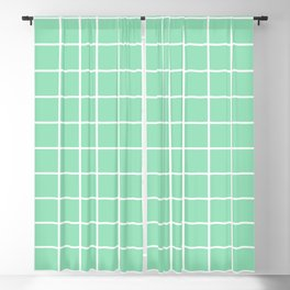 Grid Pattern Mint Green 2 Blackout Curtain