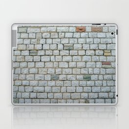 Wall of white bricks and other colors Laptop & iPad Skin