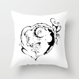 Within the Twilight Heart Throw Pillow