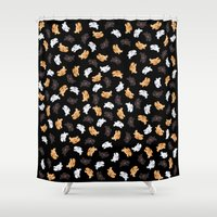 bunnies Shower Curtains featuring Bunnies! by Kashidoodles Creations