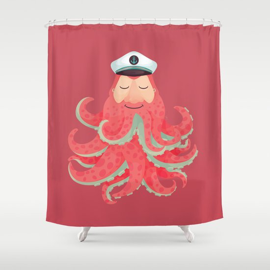 Lord Sailor Cthulhu Shower Curtain