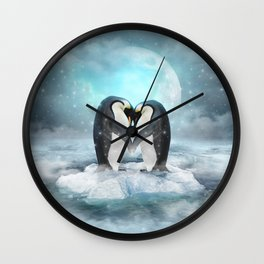 Listen Hard (Penguin Dreams) Wall Clock