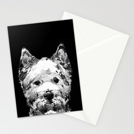 Black And White West Highland Terrier Dog Art Sharon Cummings Stationery Cards