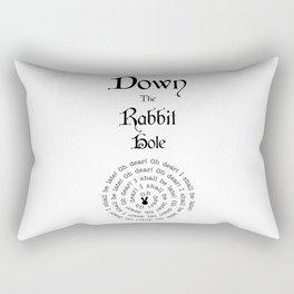 Alice In Wonderland Down The Rabbit Hole Rectangular Pillow