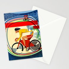 Track Cycling Championship Poster Cycle Bike Stationery Cards