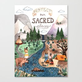 Protect Our Sacred Places Canvas Print
