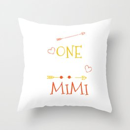 One Thank Mimi Happy Thanksgiving Day Throw Pillow