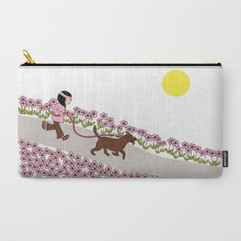 Petunia - dog jogging  Carry-All Pouch