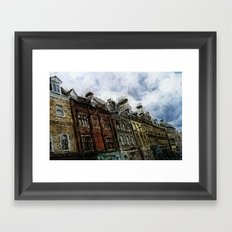 In The Streets Of My Town Framed Art Print